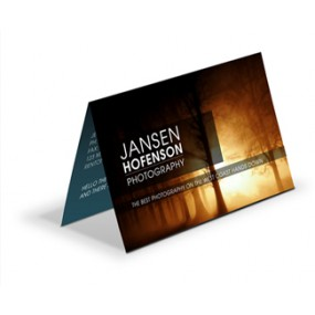 Fold-Over Linen Full Color Business Cards