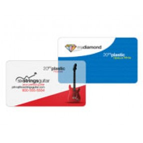 White Plastic Single Sided Business Cards