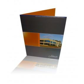 """Linen (2 Sided) Presentation Folders 4/4: Standard 9""""x12"""""""