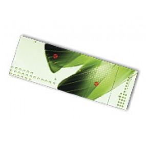 """3.5"""" x 8.5"""" Tear-off cards, 4/4 on 16pt, UV Coated"""